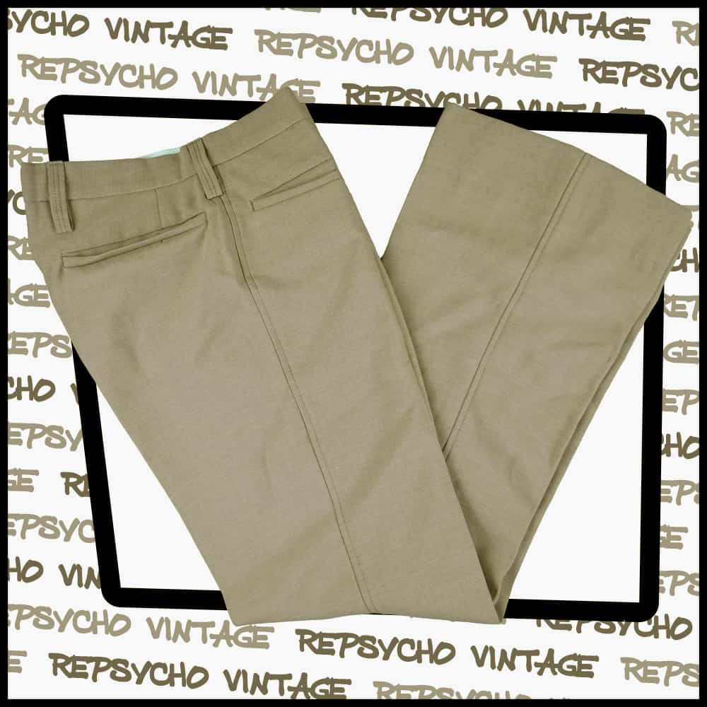 Vintage PItalian 1960/'s-70/'s Flared Wool TROUSERS Brown 30X92    212 W