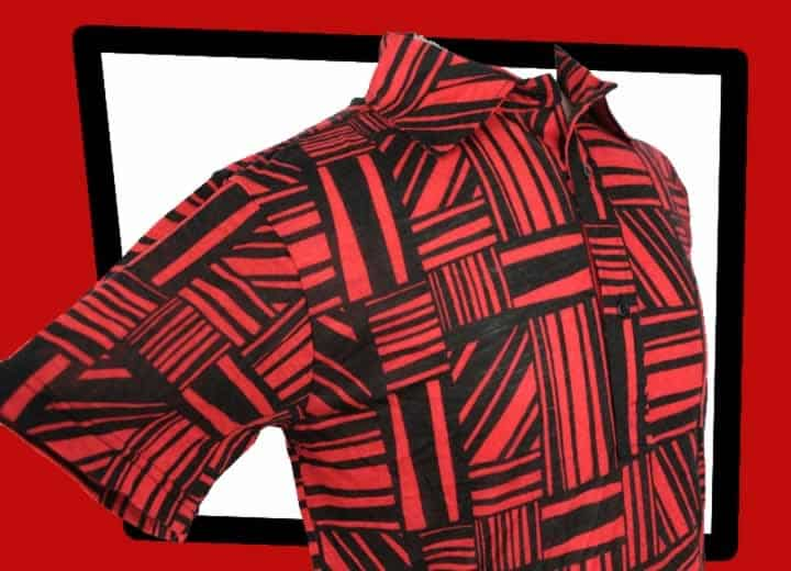 Paul Chenaski Experience red and black shirt