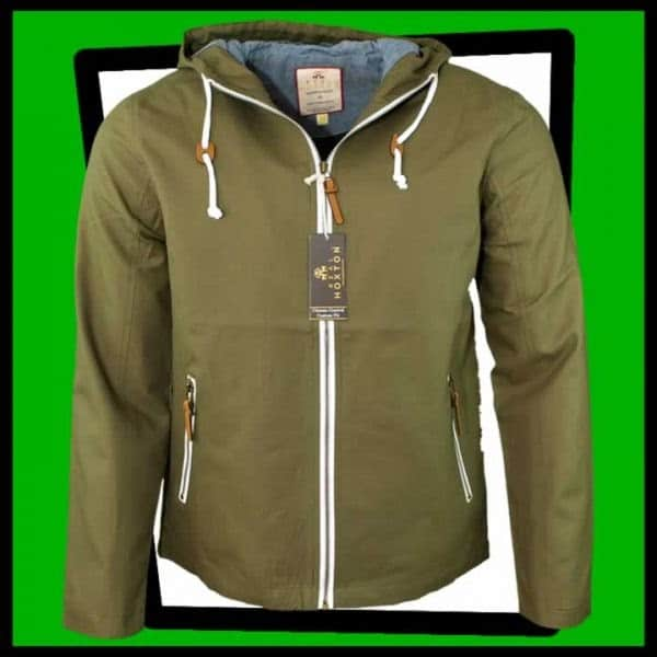 Hoxton olive green hooded jacket