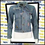 Wrangler blue rope stitch patchwork denim jacket