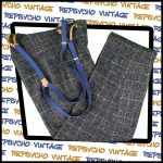 1980s grey wool check suit trousers by Stark Realism