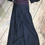 Long black dress with
