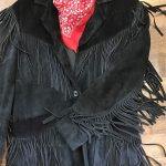Black fringed cowboy jacket