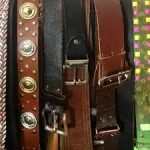 An assortment of black and brown belts