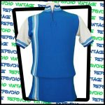 Blue and white 1970s 100% acrylic cycling jersey